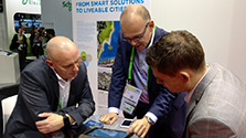 Demonstration of the liveability tool on a tablet computer at Smart City Expo World Congress 2014