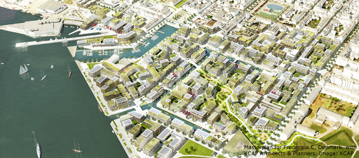 Masterplan for Fredericia C, Denmark, with KCAP Architects & Planners. Image: KCAP