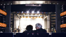 Older couple in the theatre
