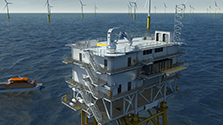 Visualisation of offshore substation