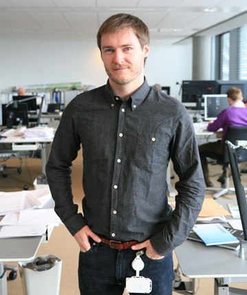 Andrew Mcintosh in the Copenhagen office